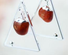 Earth Design Polished Carnelian  Gemstone  Earrings  BR 2700