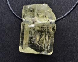 Natural Heliodor Crystal Pendant