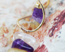 Amethyst Point n  Gemstones Swirl  pendant  BR 2726