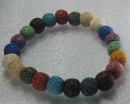 Beautiful mix colors lava Beats 10 mm Round