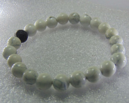 Black and White  8 mm Howlite  with lava Stone