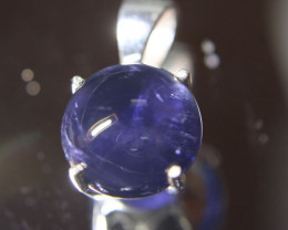 Iolite 3.65ct Platinum Finish Solid 925 Sterling Silver Pendant