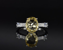 EXCLUSIVE RING Made with Genuine CITRINE   and Sterling Silver GR826