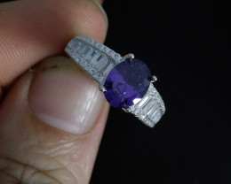 Wow Very Beautiful Purple & small White Color CZ Zirconia Fancy Ring