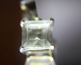 Prasiolite 1.64ct Platinum Finish Solid 925 Sterling Silver Pendant