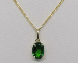 Chrome Diopside 0.85ct. in 9kt. Gold