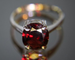 Pyrope Garnet 6.10ct Platinum Finish Solid 925 Sterling Silver Solitaire Ri