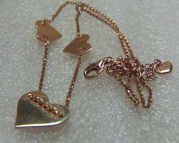 Three Rose Heart Chain rose gold 22.60 cts