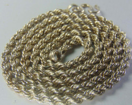 Solid 999 pure silver Heavy Look Silver rope chain necklace 20""