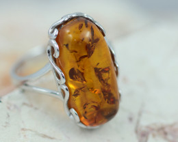Baltic AmberRing Rectangular  ,direct from Poland AM1329