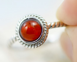 Baltic Amber Ring  Cute red amber ,direct from Poland AM1365