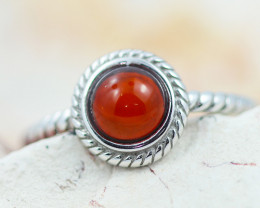 Baltic Amber Ring  Cute red amber ,direct from Poland AM1366