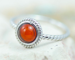 Baltic Amber Ring  Cute red amber ,direct from Poland AM1368