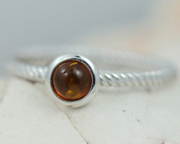 Baltic Amber Ring  Cute round amber ,direct from Poland AM1398
