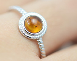 Baltic Amber Ring  Cute round amber ,direct from Poland AM1409
