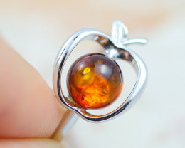 Baltic Amber Ring  amber Apple  ,direct from Poland AM1424