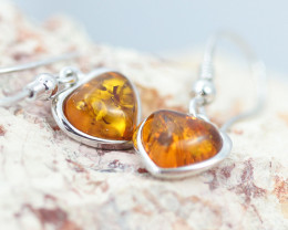 Baltic Amber Lovers Earrings ,direct from Poland AM1435