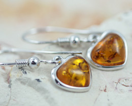 Baltic Amber Lovers Earrings ,direct from Poland AM1436