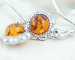 Baltic Amber Cute  Earrings ,direct from Poland AM1442