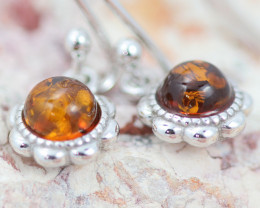 Baltic Amber Cute  Earrings ,direct from Poland AM1443