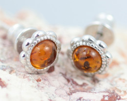 Baltic Amber Cute  Earrings ,direct from Poland AM1446
