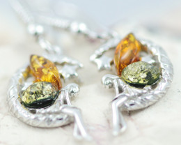 Baltic Amber Fairy Earrings ,direct from Poland AM1462