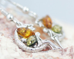 Baltic Amber Fairy Earrings ,direct from Poland AM1464