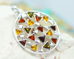 Baltic Amber Large Multi Pendant  ,direct from Poland AM1475