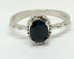 12.30 Crt Natural Sapphire 925 Silver Ring