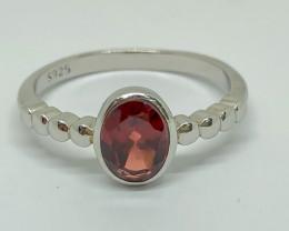 9.20 Crt Natural Garnet 925 Silver Ring