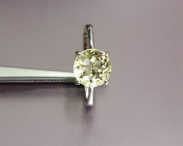 Natural Nice Yellow Beyral Ring 12.90ct. in 925 Silver Set by DANI Jeweller