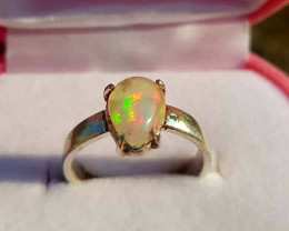 Good Fire Opal Ring sliver 925.
