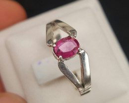 Natural Pink Sapphire Ring.