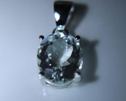 Herkimer Diamond Quartz 3.20ct Platinum Finish Solid 925 Sterling Silver Pe