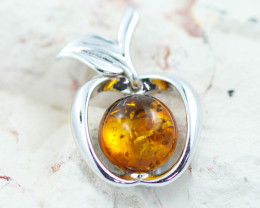 Baltic Amber  Apple  Pendant  ,direct from Poland AM1533