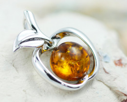 Baltic Amber  Apple  Pendant  ,direct from Poland AM1534