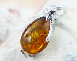 Baltic Amber  Cute Penquin  Pendant  ,direct from Poland AM 1564