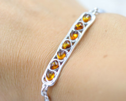 Baltic Amber Lovers heart  Bracelet  ,direct from Poland AM 1575