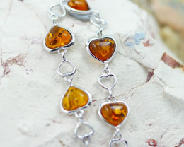 Baltic Amber Lovers heart  Bracelet  ,direct from Poland AM 1578