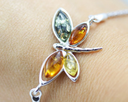 Baltic Amber Butterfly Bracelet  ,direct from Poland AM 1583
