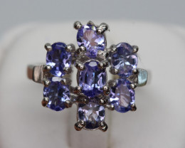 Natural Beautiful Tanzanite Ring With A 925 Starling Silver.