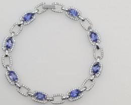 High Quality Tanzanite  Bracelets With Zircon