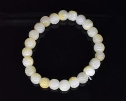 96.90 CT Jade Yellow/Gold Natural Gemstone Genuine Bracelet K21