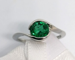 Emerald Solitaire Ring 0.98ct.