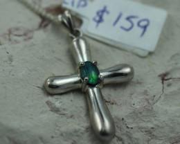 Australian  Opal  Pendant .925 silver  OPJ 2865