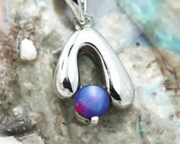 Australian  Opal  Pendant .925 silver  OPJ 2874