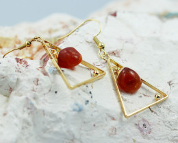 Polished Carnelian G/P earrings  BR  2695