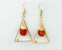 Polished Carnelian G/P earrings  BR  2696