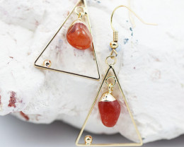 Polished Carnelian G/P earrings  BR  2697