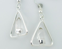 Cute crystal terminated   earth Design earrings  BR  2708